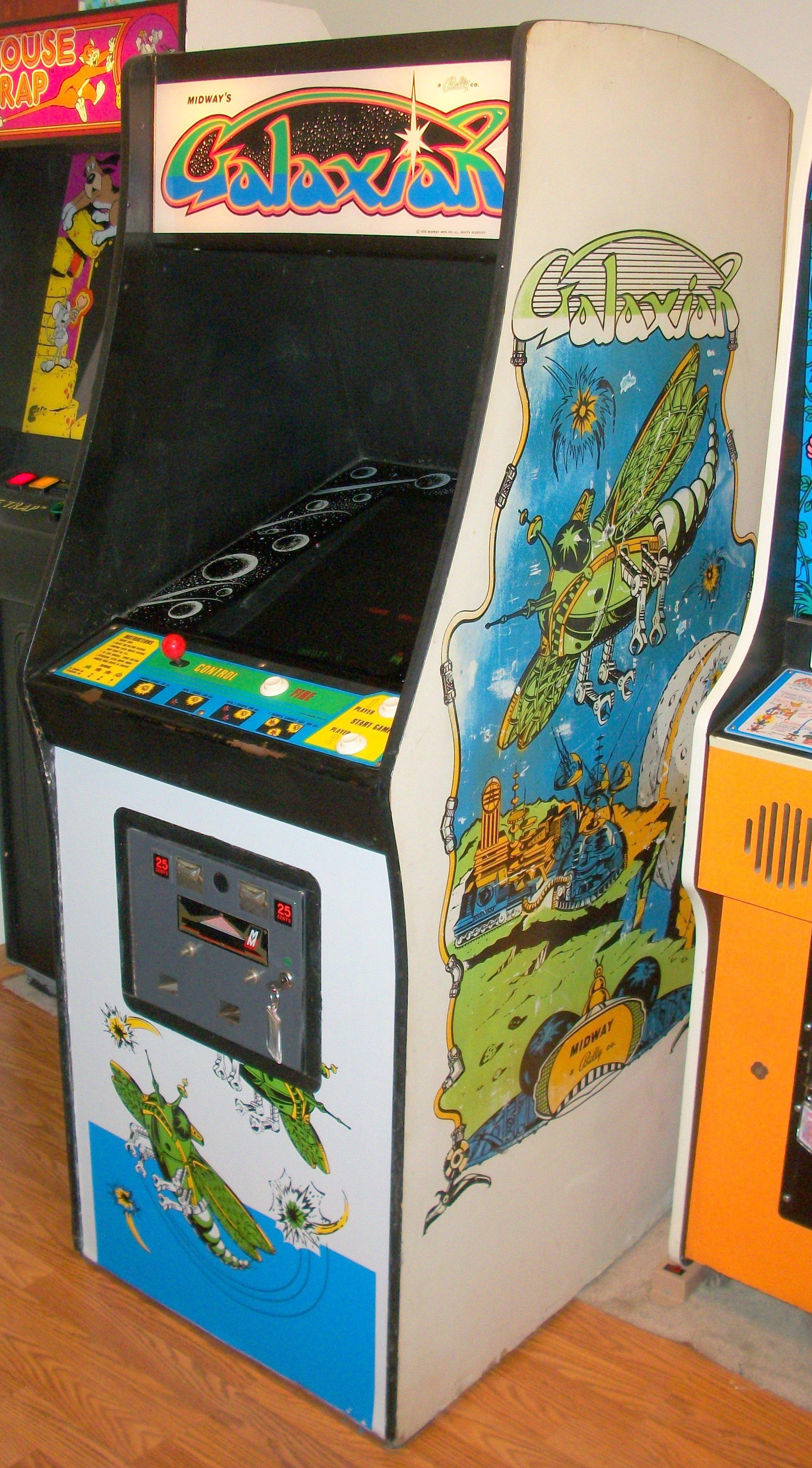 borne arcade galaxian